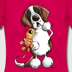 Saint Bernard and cat T-Shirts - Women's T-Shirt