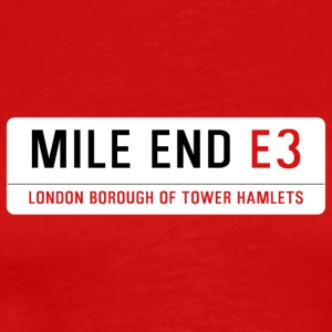 Mile End Street Sign - Men's Premium T-Shirt