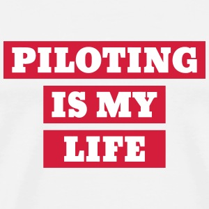 Aircraft Pilot Fly Flugzeug Avion Plane Airplane T-Shirts - Men's Premium T-Shirt