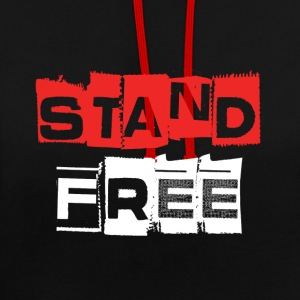 Aberdeen FC Stand Free Hoodie - Contrast Colour Hoodie