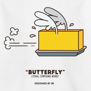 Butterfly_White_K - Teenager T-Shirt