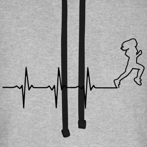 Female runner in heartbeat line Hoodies & Sweatshirts - Unisex Baseball Hoodie