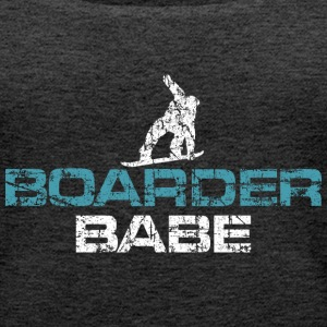Boarder Babe Vintage White/Blue Tops - Frauen Premium Tank Top