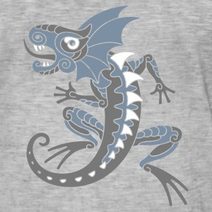 Silver Dragon - Vintage-T-skjorte for menn