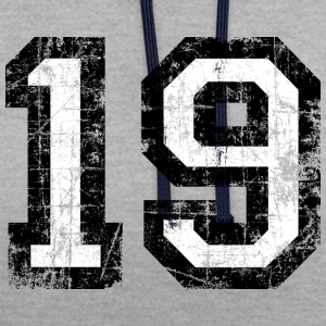 Number 19 number nineteen 19th birthday nineteenth Hoodies & Sweatshirts - Contrast Colour Hoodie