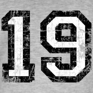 Number 19 number nineteen 19th birthday nineteenth T-Shirts - Men's Vintage T-Shirt