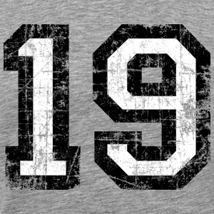 Number 19 number nineteen 19th birthday nineteenth T-Shirts - Men's Premium T-Shirt