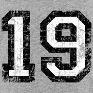 Number 19 number nineteen 19th birthday nineteenth Shirts - Teenage Premium T-Shirt