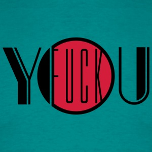 Fuck you off text logo design cool insult insult f T-Shirts - Men's T-Shirt