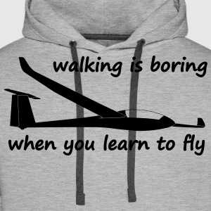 when you learn to fly Sweaters - Mannen Premium hoodie