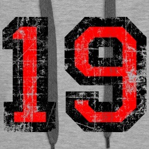 Number 19 number nineteen 19th birthday nineteenth Hoodies & Sweatshirts - Women's Premium Hoodie