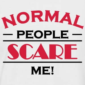 Normal people scare me! Tee shirts - T-shirt baseball manches courtes Homme