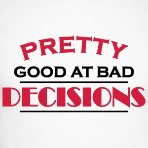 Pretty good at bad decisions Skjorter med lange armer - Langermet baseball-skjorte for menn