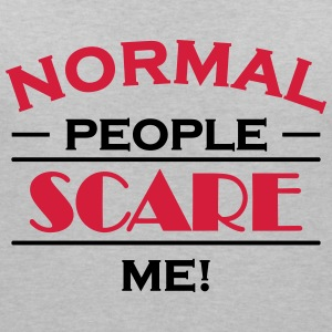 Normal people scare me! Tee shirts - T-shirt col V Femme