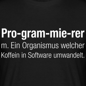 Programmierer - Definition - Männer T-Shirt