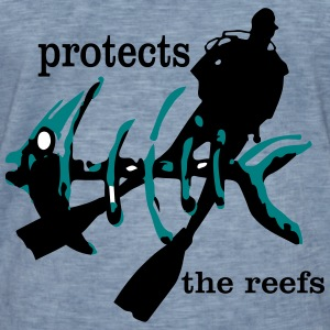 protects the reefs in the world - Männer Vintage T-Shirt