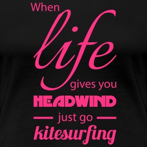 Just go Kitesurfing T-Shirts - Frauen Premium T-Shirt