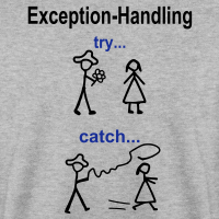 "Nerd T-Shirts mit ""Try-Catch-Java-Code"""