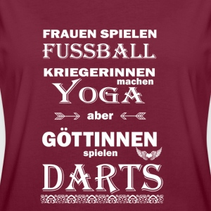 Darts Göttinnen  T-Shirts - Frauen Oversize T-Shirt