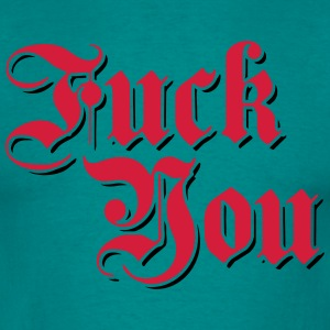 deutsch retro alt schrift german fuck you off text T-Shirts - Männer T-Shirt
