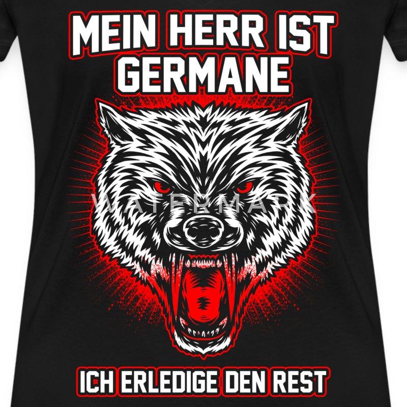 germane wolfskopf t shirt spreadshirt. Black Bedroom Furniture Sets. Home Design Ideas