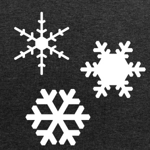 Snowflakes Jersey Beanie  - Jersey-Beanie