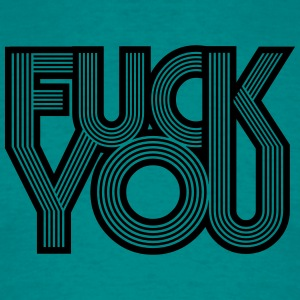 cool striche linien muster design fuck you off tex T-Shirts - Männer T-Shirt