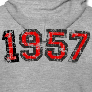 Year 1957 Birthday Vintage Hoodies & Sweatshirts - Men's Premium Hooded Jacket