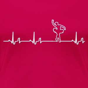 Heartbeat - Ballett Shirt - Frauen Premium T-Shirt