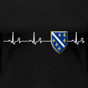 Heartbeat - Bosnien 1 Shirt Damen - Frauen Premium T-Shirt