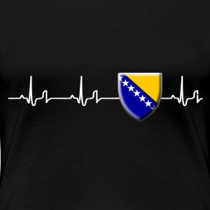 Heartbeat - Bosnien 2 Shirt Damen - Frauen Premium T-Shirt