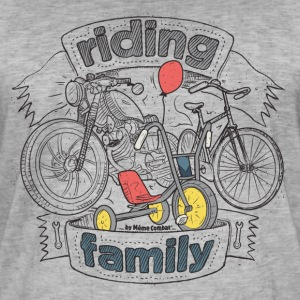 Washed grey riding family T-Shirts - Men's Vintage T-Shirt