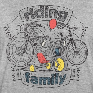 Grau meliert riding family T-Shirts - Frauen Oversize T-Shirt