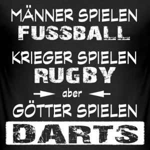 Darts -Götter T-Shirts - Männer Slim Fit T-Shirt