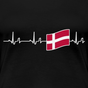 Heartbeat - Dänemark Shirt Damen - Frauen Premium T-Shirt