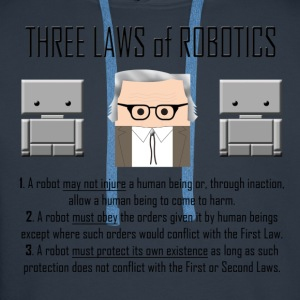 Three Laws of Robotics - Felpa con cappuccio premium da uomo