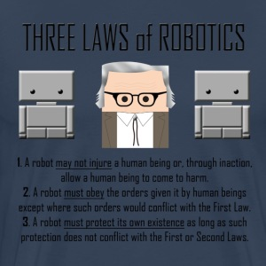 Three Laws of Robotics - Maglietta Premium da uomo