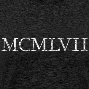 MCMLXVII 1957 Roman birthday year T-Shirts - Men's Premium T-Shirt