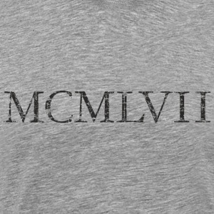MCMLXVII born 1957 Roman birthday year T-Shirts - Men's Premium T-Shirt