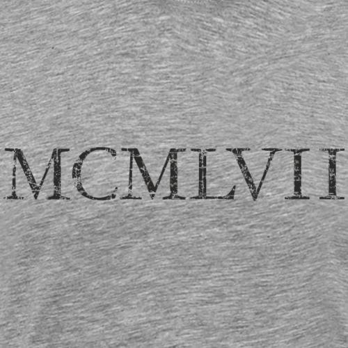 MCMLVII 1957 Römisch Jahr Jahrgang Geburtstag