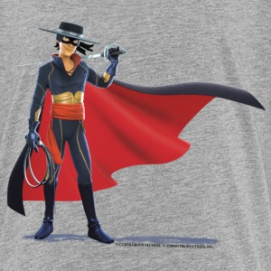Zorro The Chronicles With Sword And Whip - Premium T-skjorte for tenåringer