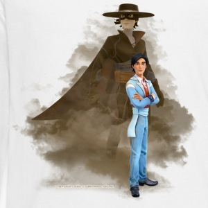 Zorro The Chronicles Don Diego Double Life - Långärmad premium-T-shirt tonåring