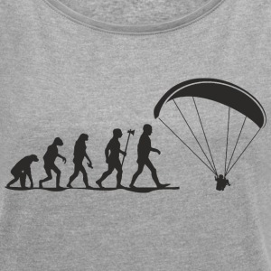 evolution paragliding T-Shirts - Women's T-shirt with rolled up sleeves