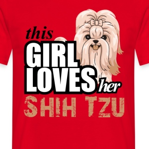 This Girl Loves Her Shih Tzu T-Shirts - Men's T-Shirt