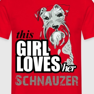 This GIrl Loves Her Schnauzer T-Shirts - Men's T-Shirt