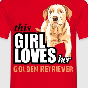 This Girl Loves Golden Retrievers - Golden Retriev T-Shirts - Men's T-Shirt