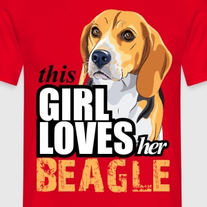 thIs gIrl loves her beagle T-Shirts - Men's T-Shirt