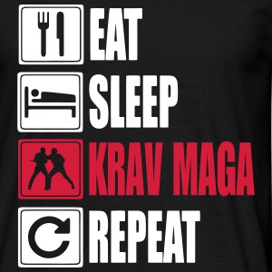Eat-Sleep-KravMaga-Repeat T-skjorter - T-skjorte for menn