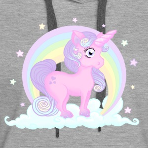 Sweat Pastel unicorn - Sweat-shirt à capuche Premium pour femmes