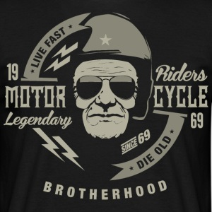 SSD 1969 Motor Cycle Legendary Riders RAHMENLOS Biker Design retro grey T-Shirts - Männer T-Shirt